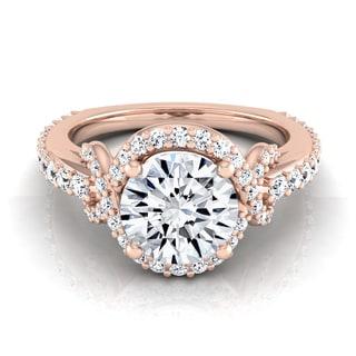 14k Rose Gold 1 5/8ct TDW Round Diamond Engagement Ring (H-I, VS1-VS2)
