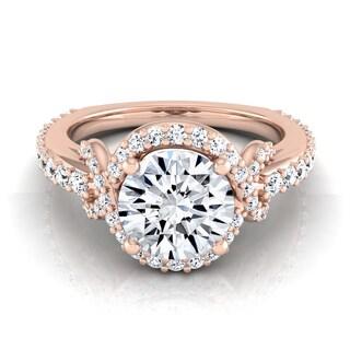 14k Rose Gold 1 5/8ct TDW Round Diamond Engagement Ring