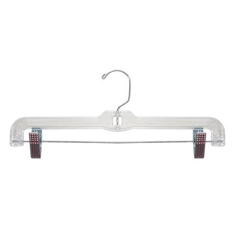 14-inch Clear Skirt/ Pant Plastic Hanger (Set of 25 or 100)