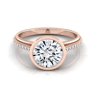 14k Rose Gold 1 1/10ct TDW Round Diamond Bezel Solitaire Engagement Ring (H-I, VS1-VS2)