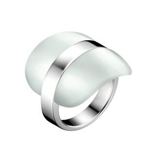 Calvin Klein Treasure Green Stainless Steel/Glass Fashion Ring