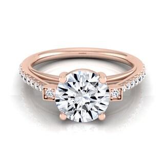 14k Rose Gold 1 1/3ct TDW Round Diamond Engagement Ring (H-I, VS1-VS2)