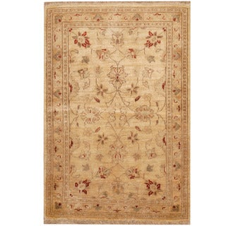 Herat Oriental Afghan Hand-knotted Tribal Vegetable Dye Oushak Wool Rug (2'8 x 3'10)