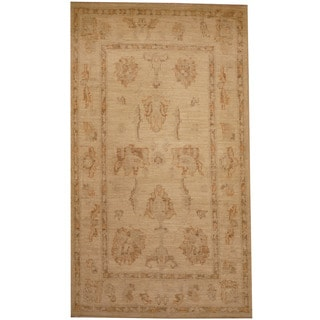 Herat Oriental Afghan Hand-knotted Tribal Vegetable Dye Oushak Wool Rug (2'7 x 4'6)