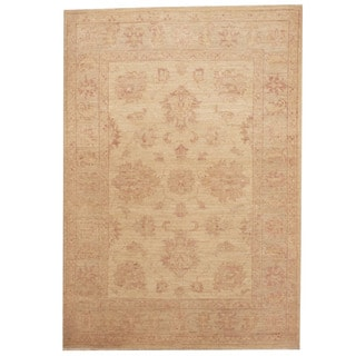 Herat Oriental Afghan Hand-knotted Tribal Vegetable Dye Oushak Wool Rug (2'9 x 4')
