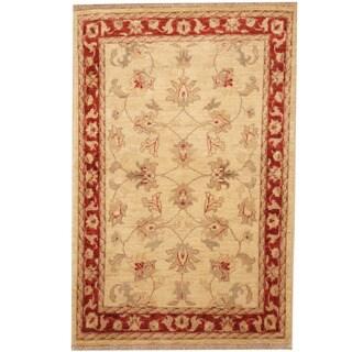 Herat Oriental Afghan Hand-knotted Tribal Vegetable Dye Oushak Wool Rug (2'8 x 4')