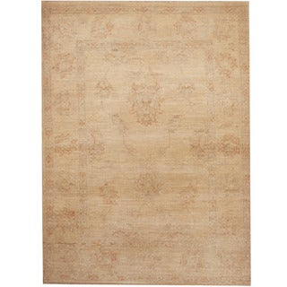 Herat Oriental Afghan Hand-knotted Tribal Vegetable Dye Oushak Wool Rug (2'10 x 3'10)