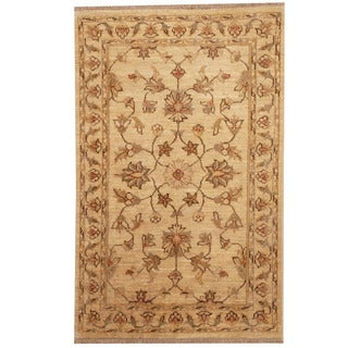Herat Oriental Afghan Hand-knotted Tribal Vegetable Dye Oushak Wool Rug (2'7 x 4'1)