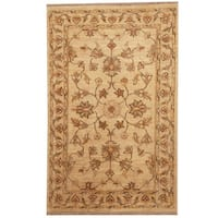 Herat Oriental Afghan Hand-knotted Tribal Vegetable Dye Oushak Wool Rug - 2'7 x 4'1