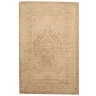 Herat Oriental Afghan Hand-knotted Tribal Vegetable Dye Oushak Wool Rug (2'6 x 4')