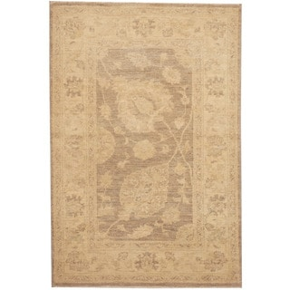 Herat Oriental Afghan Hand-knotted Tribal Vegetable Dye Oushak Wool Rug (2'7 x 3'10)