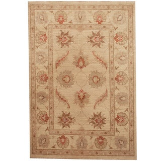Herat Oriental Afghan Hand-knotted Tribal Vegetable Dye Oushak Wool Rug (2'8 x 4')