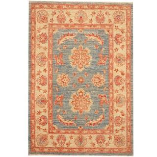 Herat Oriental Afghan Hand-knotted Tribal Vegetable Dye Oushak Wool Rug (2'9 x 4'6)