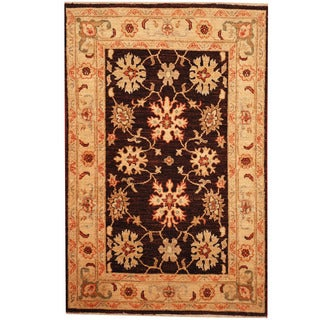 Herat Oriental Afghan Hand-knotted Tribal Vegetable Dye Oushak Wool Rug (2'9 x 4'3)