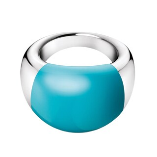 Calvin Klein Ellipse Blue Stainless Steel Women's Fashion Ring (2 options available)