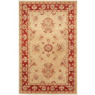 Herat Oriental Afghan Hand-knotted Tribal Vegetable Dye Oushak Wool Rug (2'7 x 4'3)