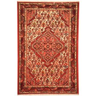 Herat Oriental Persian Hand-knotted Tribal Hamadan Wool Rug (2'10 x 4'2)