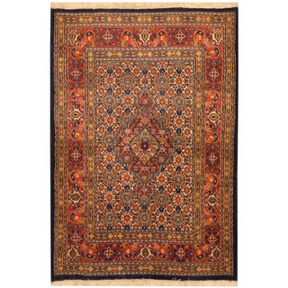 Herat Oriental Persian Hand-knotted Tribal Moud Wool Rug (2'8 x 4')