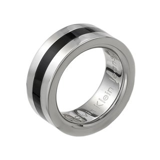 Calvin Klein Women's Billet Stainless Steel and Resin Fashion Ring
