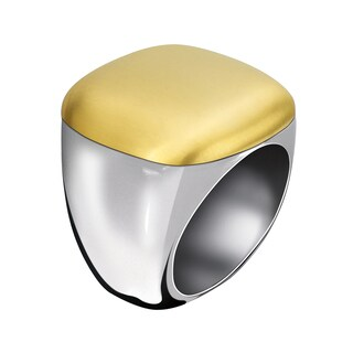 Calvin Klein Women's Placid Stainless Steel and Yellow Gold PVD-coated Fashion Ring (3 options available)