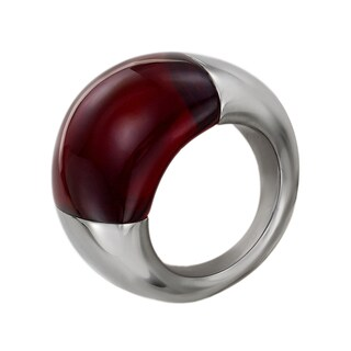 Calvin Klein Women's Ellipse Red Stainless Steel Fashion Ring