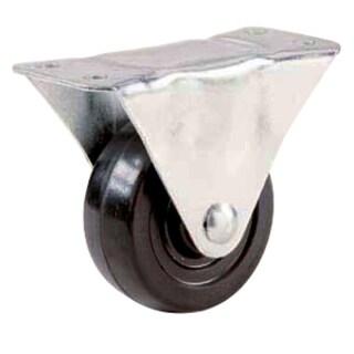 """Shepherd 9481 2"""" Rubber Wheel Rigid Plate Casters"""