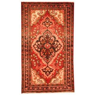 Herat Oriental Persian Hand-knotted Tribal Hamadan Wool Rug (2'5 x 4'2)