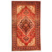 Herat Oriental Persian Hand-knotted Tribal Hamadan Wool Rug - 2'5 x 4'2