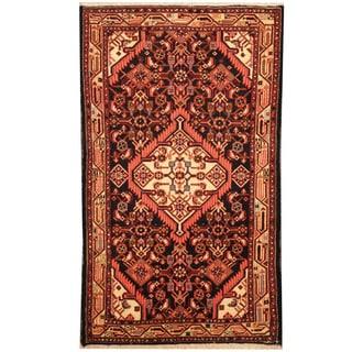 Herat Oriental Persian Hand-knotted Tribal Hamadan Wool Rug (2'4 x 4')