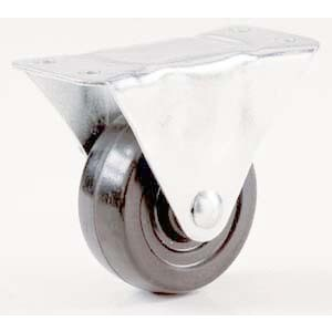 "Shepherd 9484 4"" Rubber Wheel Rigid Plate Casters"