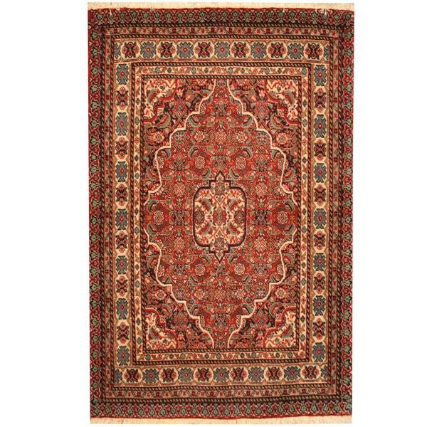 Herat Oriental Persian Hand-knotted Tribal Bidjar Wool Rug (2'7 x 4')