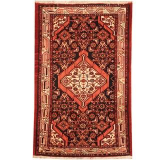 Herat Oriental Persian Hand-knotted Tribal Hamadan Wool Rug (2'6 x 3'9)
