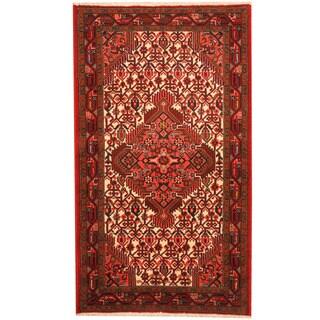 Herat Oriental Persian Hand-knotted Tribal Hamadan Wool Rug (2'6 x 4'5)
