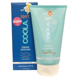 Coola 5-ounce Classic Sport Sunscreen Moisturizer SPF 50 Mango