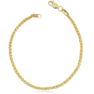 Fremada 14k Yellow Gold Filled 2.5-mm Round Wheat Chain Bracelet (7.5 or 8.5 inches)|https://ak1.ostkcdn.com/images/products/12862228/P19624272.jpg?impolicy=medium