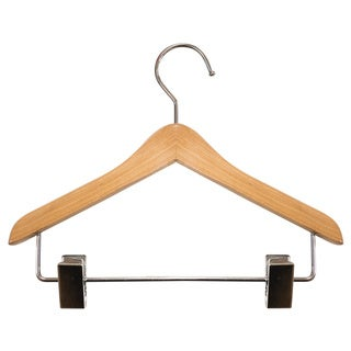 Mini Coordinate Tan Wood 8-inch Hangers (Case of 25)