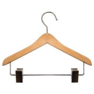 Mini Coordinate Tan Wood 8-inch Hangers (Case of 12)