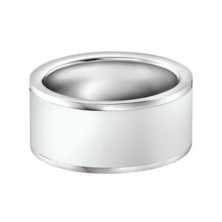 Calvin Klein Women's Gloss Stainless Steel and Resin Fashion Ring