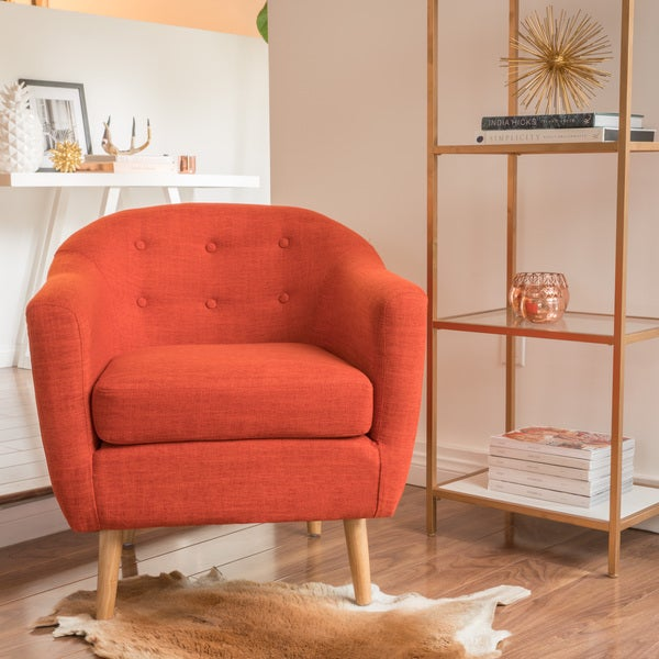 Delicieux Naveen Fabric Mid Century Club Chair By Christopher Knight Home