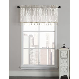 Mia by Artistic Linen Rod-pocket Velvet Window Valance