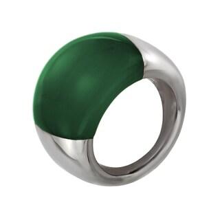 Calvin Klein Ellipse Dark Green Stainless Steel Women's Fashion Ring