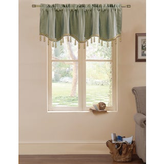 Lydia by Artistic Sage Linen Rod-pocket Straight Window Valance