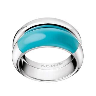 Calvin Klein Stainless Steel Ellipse Fashion Ring