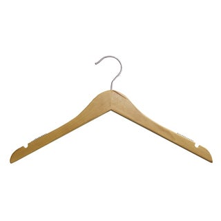 Natural Wood 17-inch Shirt Hangers