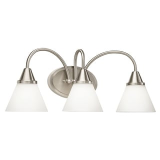 Kichler Transitional 3-light Satin Nickel LED Bath/ Vanity Light