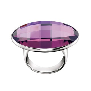 Calvin Klein Women's Continuity Stainless Steel Round in Purple Fashion Ring