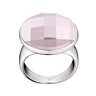Calvin Klein Continuity Stainless Steel Light Pink Women's Round Fashion Ring
