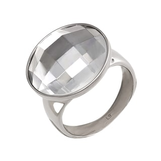 Calvin Klein Women's Continuity Stainless Steel and Glass Fashion Ring