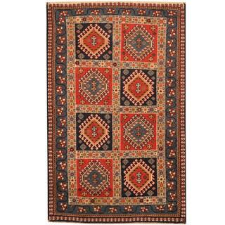 Herat Oriental Persian Hand-knotted Tribal Shiraz Wool Rug (2'8 x 4'2)