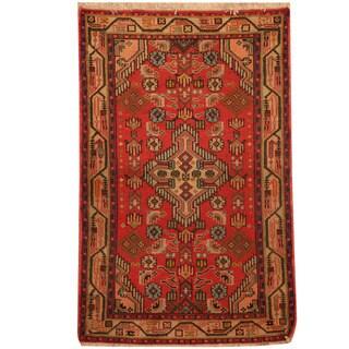 Herat Oriental Persian Hand-knotted Tribal Hamadan Wool Rug (2'7 x 3'10)